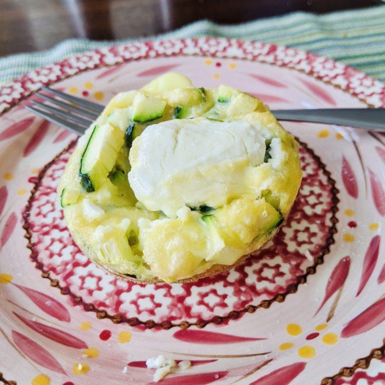 Goat Cheese & Zucchini Egg Muffin