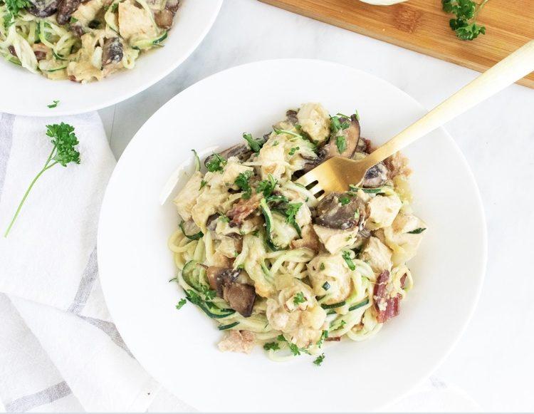 Zoodle Noodle Cardonara